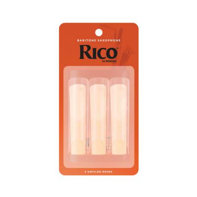 Rico RLA0325 Baritone Saxophone Reeds - Strength 2.5 (3-Pack)