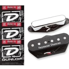 Seymour Duncan Hot Tele Alnico 5 Telecaster Pickup Set For Tele Fender Replacement ( 3 STRING SETS)