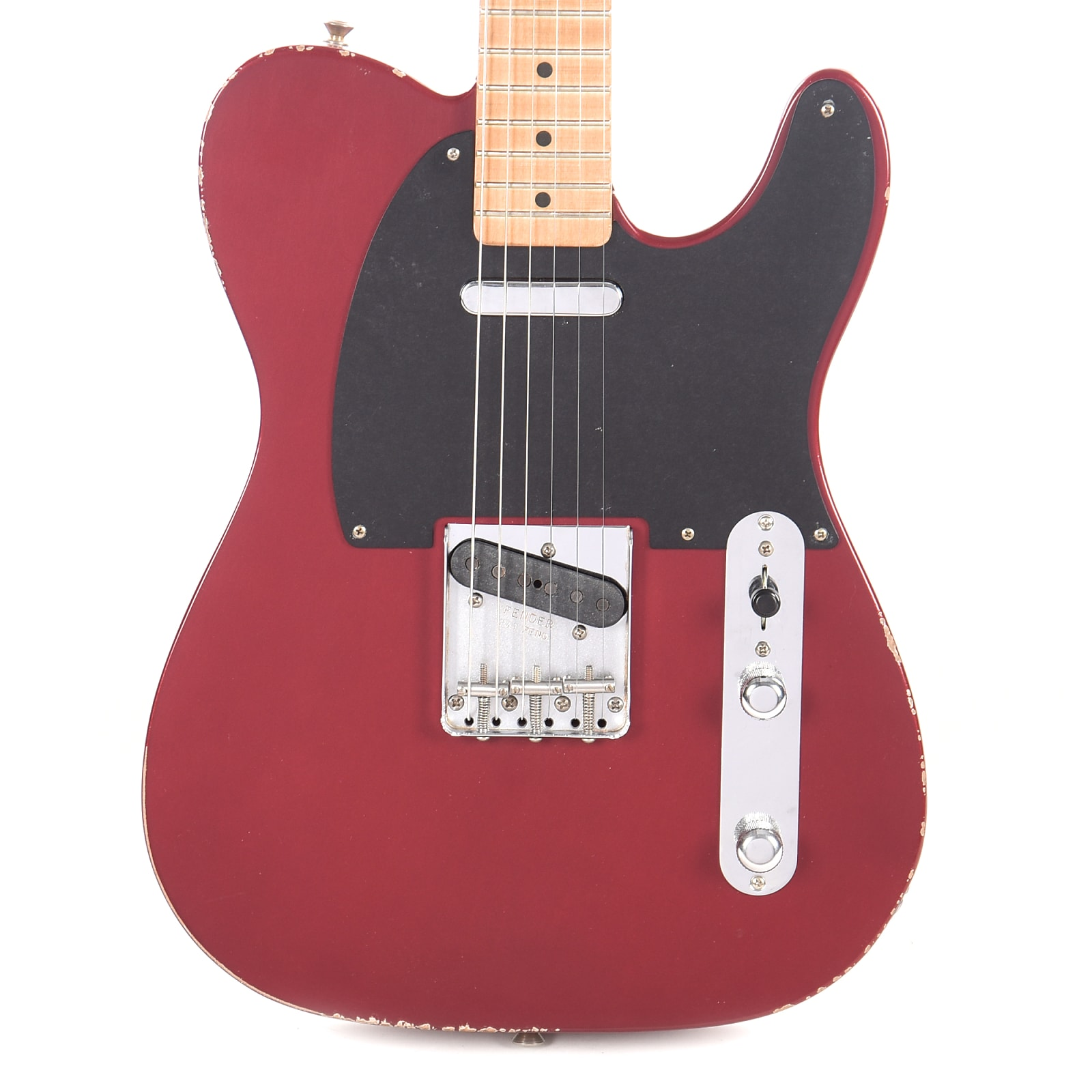fender road worn 39 50s telecaster candy apple red w 1 ply black pickguard cme exclusive. Black Bedroom Furniture Sets. Home Design Ideas