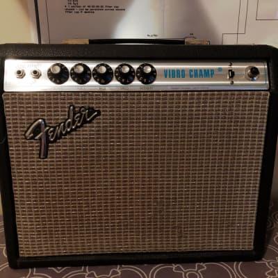 Fender Vibrochamp 1974 Silverface Recapped Clean SUPERB