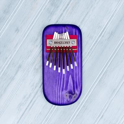 Mountain Melodies Colored Pine Board Thumb Piano - Purple