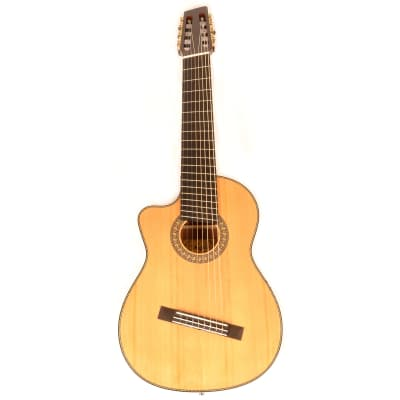 Agile 8 String Left Handed Acoustic Guitar Multi Scale Fan Fret Renaissance Classical 82527 EQ Cutaw for sale