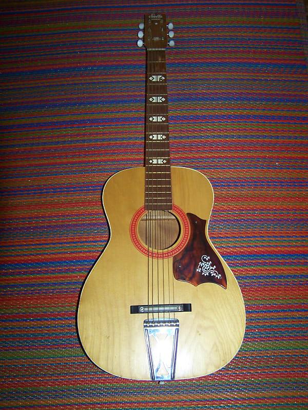 stella harmony parlor guitar 1960s amber mahogany reverb. Black Bedroom Furniture Sets. Home Design Ideas