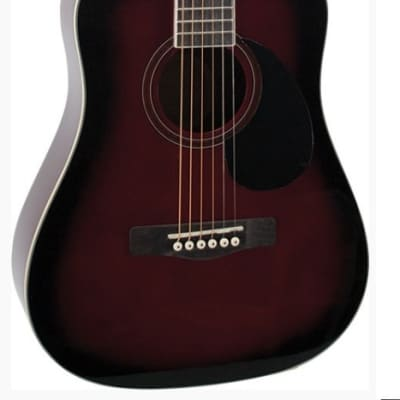 Jay Turser 3/4 Acoustic Guitar - Redsunburst JTA523-RSB