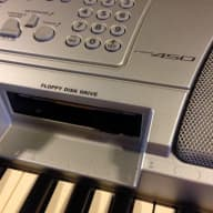 YAMAHA PSR-450 Keyboard & POWER Supply - AS IS High Bb key not working