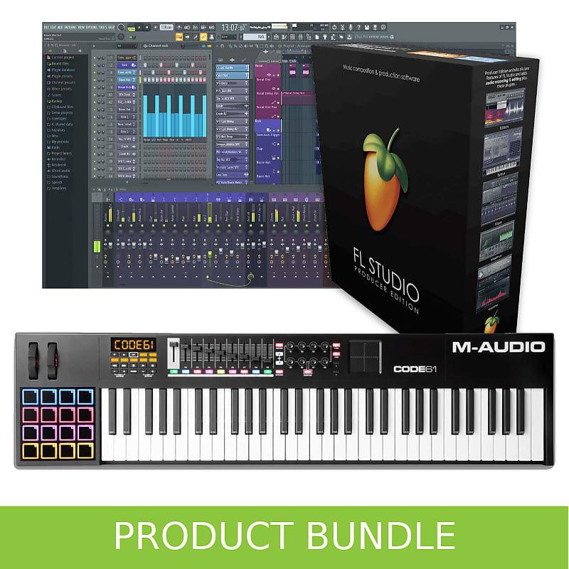 M-Audio Code 61 Keyboard and Image Line FL Studio 20 Producer Bundle