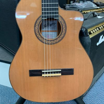 Ramirez R1 CWE Classical Guitar Natural Cutaway Electric for sale