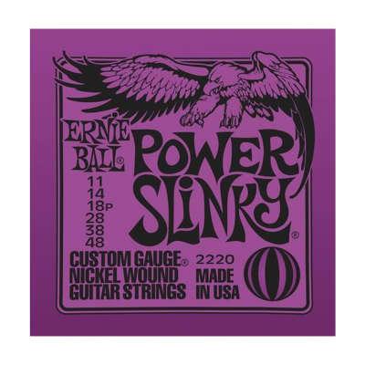 ERNIE BALL Power Slinky Nickel Wound Electric Guitar Strings (2220) Single Pack