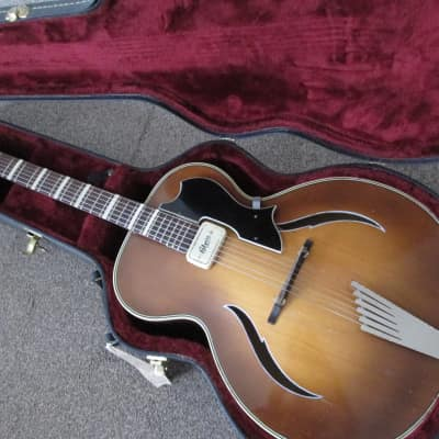 Otwin Sonor archtop late fifties light burst for sale