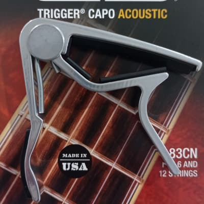 Dunlop 83CN Trigger Curved Acoustic Capo 2010s Nickel