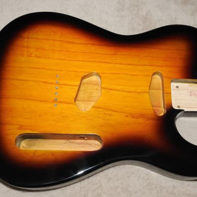 Mighty Mite MM2705AF-2TS Swamp Ash Tele Body 2 Tone Sunburst Thin Poly Finish Weighs 4lbs 8.5oz #2