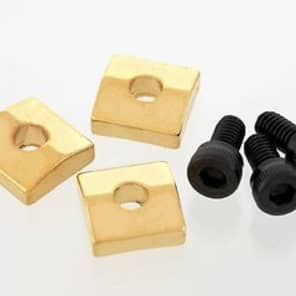 Allparts Nut Blocks with Screws, Gold, Set of 3 for sale