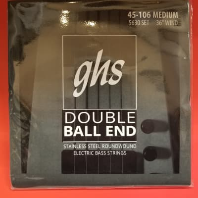 GHS Steinberger Double Ball End Bass Strings, Stainless Steel Roundound 45-106