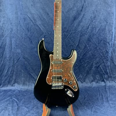 Gordon Smith Classic S Maple Neck HSS in Black with Tortoiseshell PG with Hard Case for sale