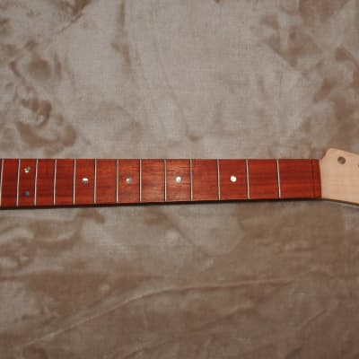 "Tele Style Unfinished Neck Padauk On Curly Maple 21 Frets 24.75 Conversion C Profile 12"" Radius!"