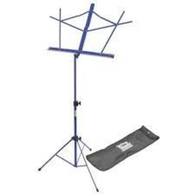On-Stage Stands SM7122DBB Sheet Music Stand in Dark Blue with Bag