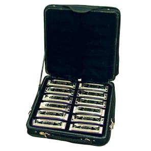 Johnson BK-520 12pc Blues King Harmonica Set w/ Case