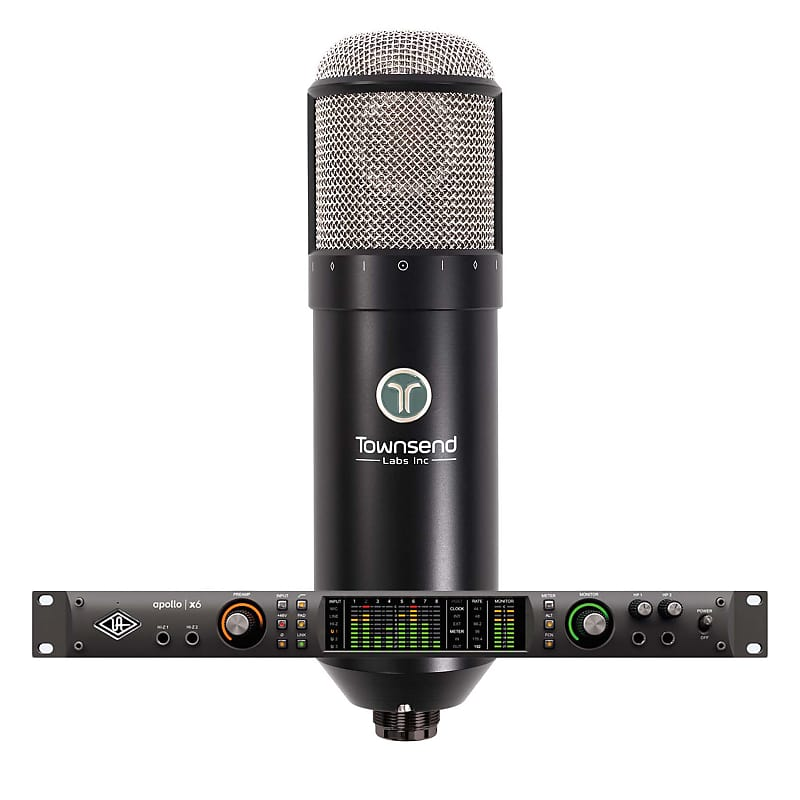 Universal Audio Apollo X6 Thunderbolt 3 AI with Townsend Labs Sphere L22 Mic