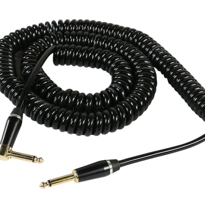 SuperFlex GOLD SFI-25QR-COILED Classic Heavy Duty Coiled Guitar Cable