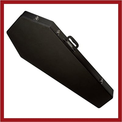 Coffin Case  Guitar Case with Red  Velvet Interior for sale