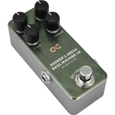 One Control Hooker's Green Bass Machine 4K Bass Overdrive/Distortion Effects Pedal for sale