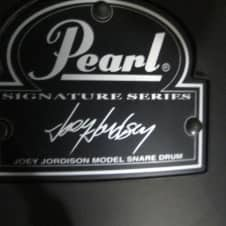 Pearl Joey Jordison black 13x7  model, Matt Black, Pin stripes