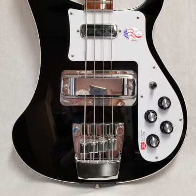 Rickenbacker 4003 Jetglo Electric Bass Bound Body And Neck, Full Inlay, Wired For Stereo W/case 4003JG (black) for sale