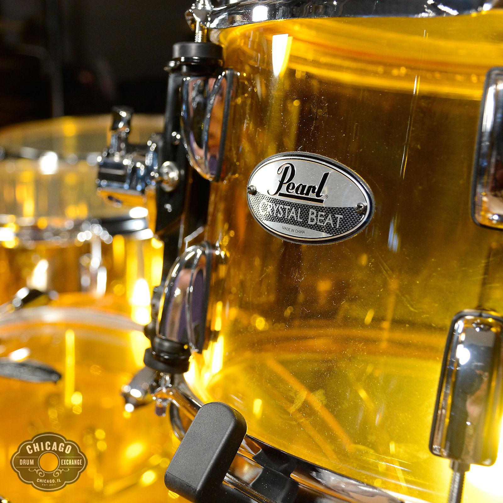 Pearl Crystal Beat 12 14 16 22 Seamless Acrylic 4pc Drum Kit