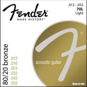 Fender 70L Bronze Acoustic Strings - 12's for sale
