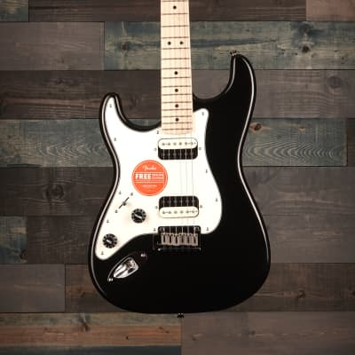 Fender Squier Contemporary Stratocaster HH Left-Handed Maple FB Black Metallic for sale