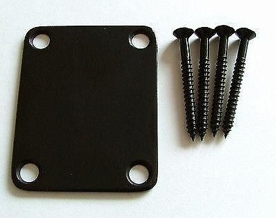 Stratocaster//Telecaster 4-Screw Neck Mounting Plate with Gasket