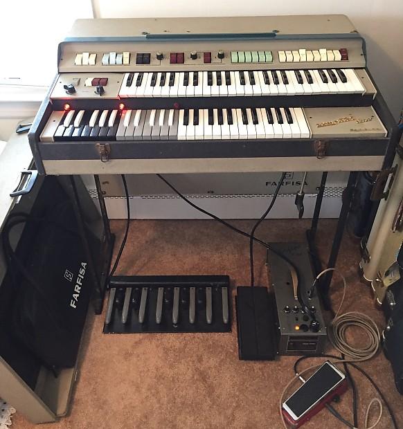 Organ For Sale >> Farfisa Compact Duo Organ Pedals 1960 S Grey Black No Power Supply