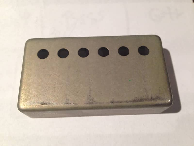 Gold plated 49,2mm Spacing Humbucker Cover Nickel Silver