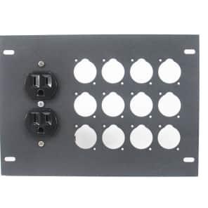 Elite Core Audio FBL-PLATE-12+AC Plate for FBL Floor Box with AC Duplex - No Connectors