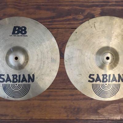 "USED Sabian B8 14"" Hi-Hat Cymbals (Pair)"