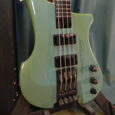 Kubicki Ex Factor 1989 Seafoam, Pre-Fender 18V pre-amp for sale