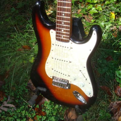 Vantage Strat SSS style 1990s Blackburst for sale