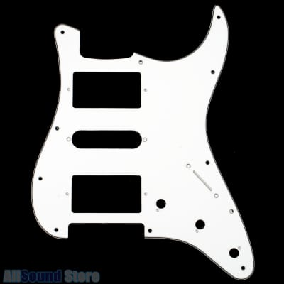 NEW - 3-Ply WHITE Pickguard for Fender® Stratocaster® Strat USA MIM Standard HSH 11-Hole