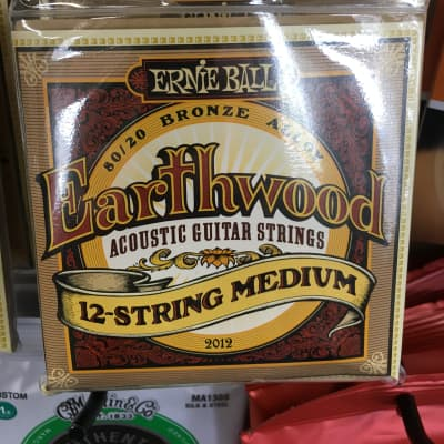 Ernie Ball 2012 Earthwood 80/20 12-String Medium Acoustic Guitar Strings, .011/.011 - .052/.028