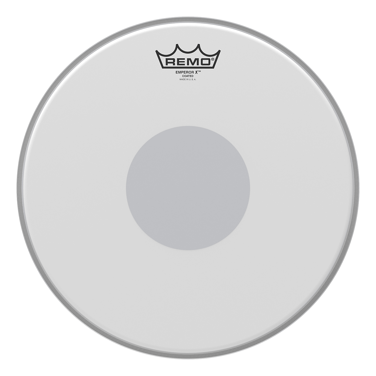 13in Remo Emperor X Coated Drum Head With Black Dot