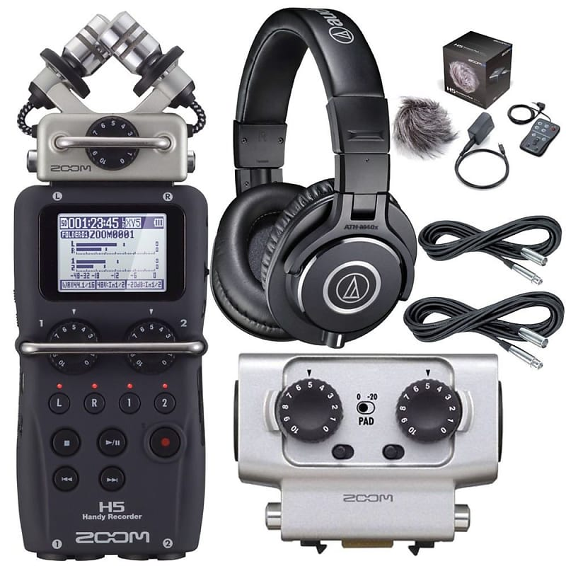 Zoom H5 Recorder w/ EXH6 XLR/TRS Input Capsule Accessory