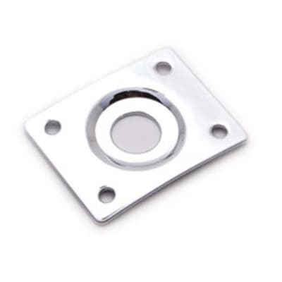 Mighty Mite MM5603C Jack Plate for Electric Guitar- Chrome for sale