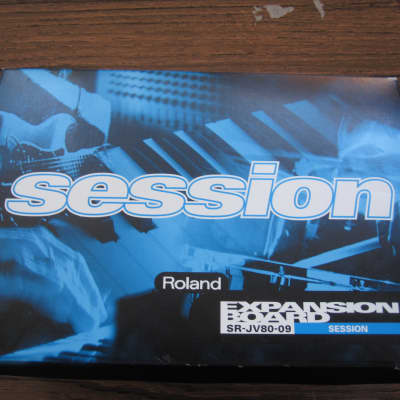 with box Roland SR-JV80-09 Session expansion board card patches waveforms presets