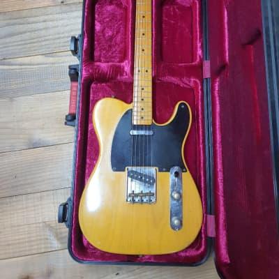 1999 Fender Telecaster 52 Reissue Butterscotch Yellow Tele Ash Body Maple