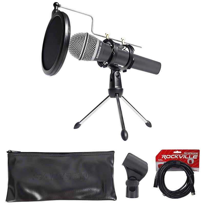 samson dynamic podcasting podcast microphone stand pop reverb. Black Bedroom Furniture Sets. Home Design Ideas