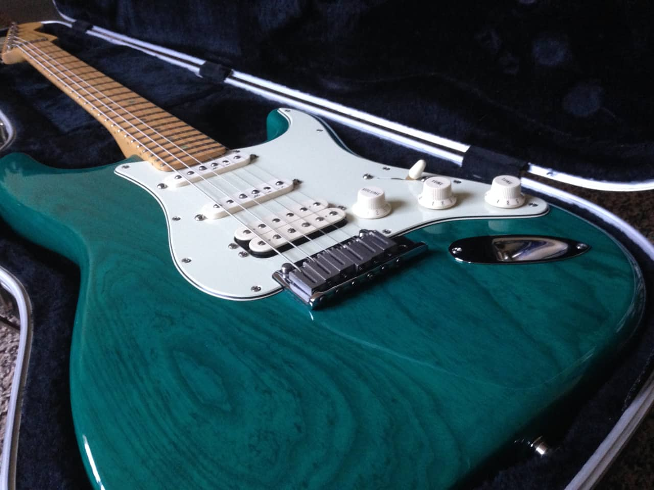 Fender American Deluxe Ash Stratocaster Hss 1999 Teal
