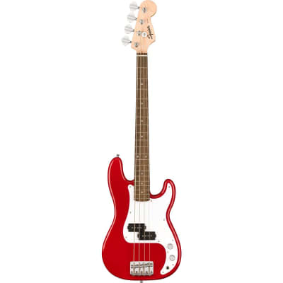Squier Mini Precision Bass Guitar, Laurel Fingerboard, Dakota Red