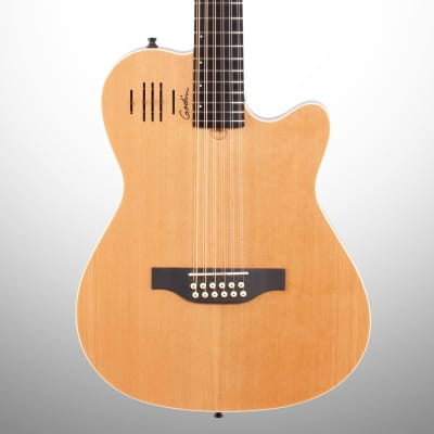 Godin A12 Acoustic-Electric Guitar, 12-String (with Gig Bag), Natural for sale