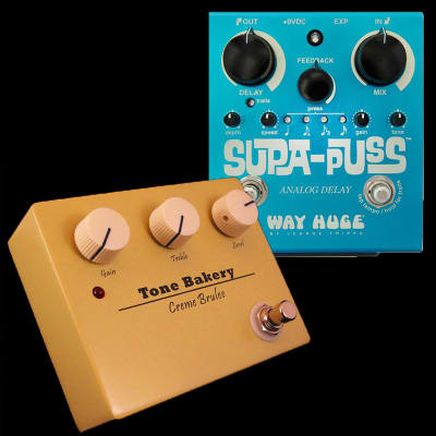 Way Huge Supa Puss Delay + Tone Bakery Creme Brulee Pedal Combo