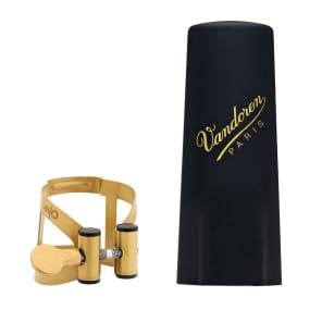 Vandoren LC590AP M/O Series Aged Gold Baritone Saxophone Ligature and Plastic Cap